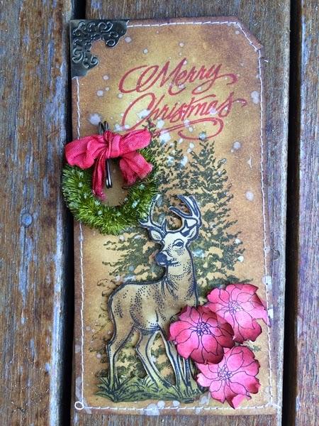 Deer Looking 2 1/4 x 3 1/2-43238