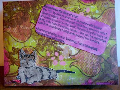 Crayon Kitty 2 x 3 1/2-35147