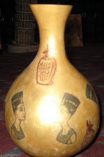 Egyptian Canopic Vessel 1 1/2 x 2 1/2-32131