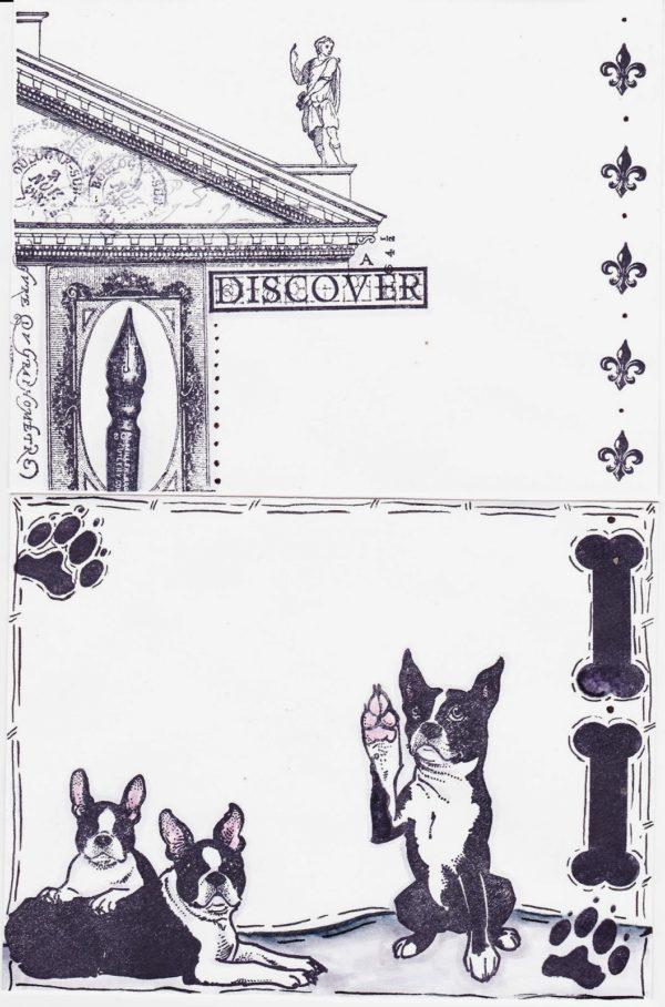 Boston Terrier Pair 3 1/4 x 2 1/4-41129