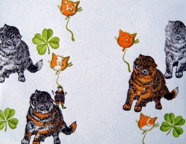Inquisitive Cat 2 x 2-37715