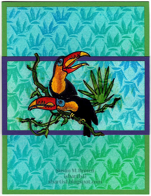 Two Toucans On Branch 3 1/4 x 3-35253
