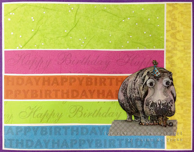 Hippo With Party Hat 2 3/4 x 3-39054