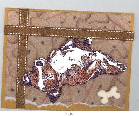 Basenji Dog Relaxing 3 1/2 x 4 1/4-34055