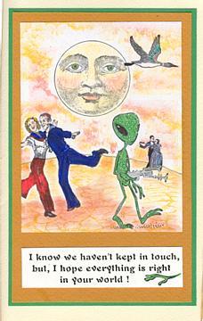 Alien With Gun 2 x 3 1/4-35214