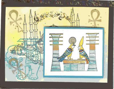 Egyptian Bird Gods 2 3/4 x 2 1/4-35210