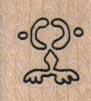 Petroglyph – Minimalist Frog 3/4 x 3/4