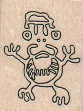 Petroglyph – Cosmic Frog 1 1/4 x 1 1/2