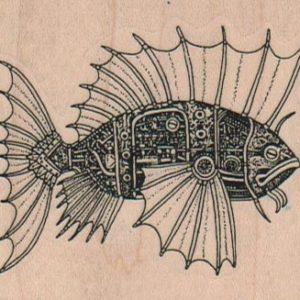 Steampunk Fish 2 3/4 x 2 1/4-0