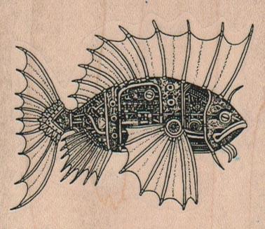 Steampunk Fish 2 3/4 x 2 1/4