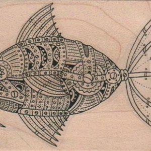 Steampunk Fish 2 1/4 x 3-0