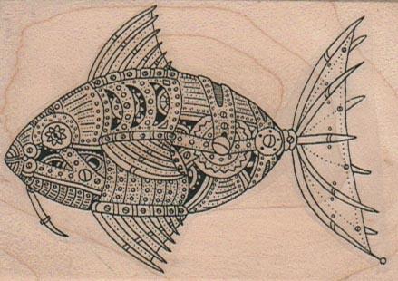Steampunk Fish 2 1/4 x 3