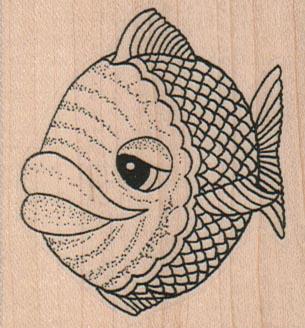 Big Lipped Fish (Large) 2 1/4 x 2 1/4
