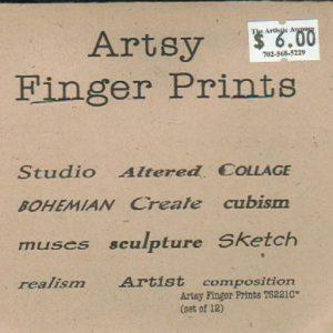 Finger Prints-Artsy Studio Unmounted Stamps-0