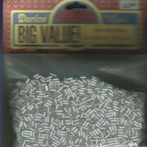 Darice glass bugle beads 1018-19-Silver Lined-100 grams-0