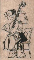 Cello Player 1 1/2 x 2 1/2