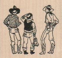 Cowboy Trio 2 1/4 x 2-0