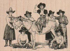 Cowgirls 3 1/4 x 2 1/4-0