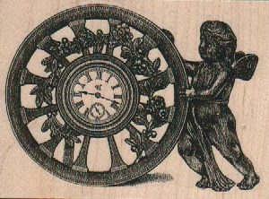 Cherub With Clock Wheel 3 1/4 x 2 1/4-0