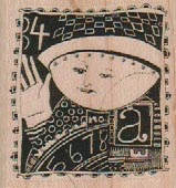 Postage Stamp 1 3/4 x 1 3/4