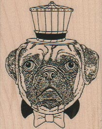 Dog Head In Steampunk Crown 2 1/4 x 2 3/4-0