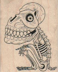 Giant Head Skeleton 2 1/2 x 3