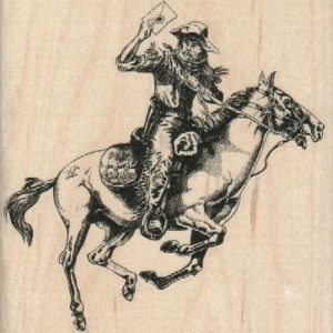 Cowboy Carrying Letter 3 3/4 x 3 3/4-0