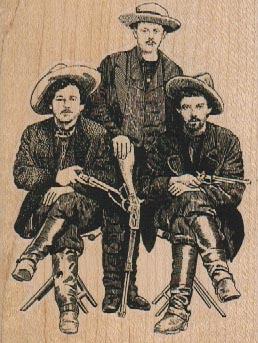 Three Cowboys 2 3/4 x 3 1/2