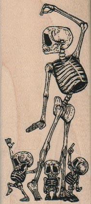 Skeleton Family 2 x 4 1/4