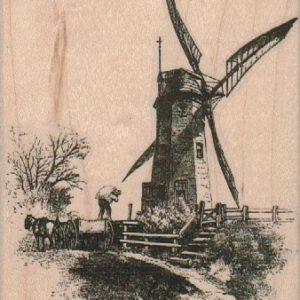 Windmill Scene 3 1/2 x 4 1/2-0
