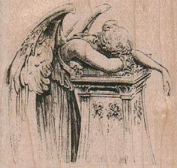 Angel Weeping Over Pillar 2 3/4 x 2 1/2-0