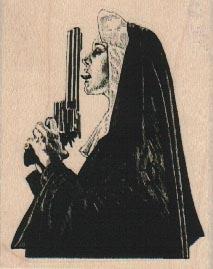 Nun Licking Gun 2 1/4 x 2 3/4-0