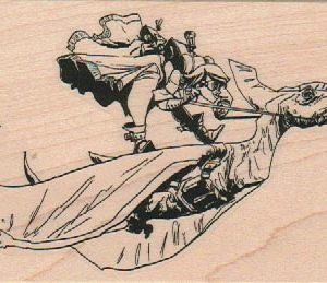 Pteranodon Rodeo by Brian Kesinger 2 3/4 x 4 3/4-0