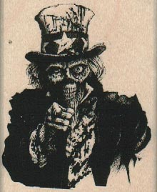 Undead Uncle Sam 2 1/4 x 2 3/4-0