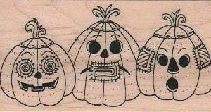 Three Jack-O-Lanterns 1 3/4 x 3 1/4-0