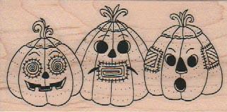 Three Jack-O-Lanterns 1 3/4 x 3 1/4