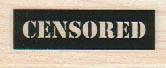 Censored 3/4 x 1 3/4