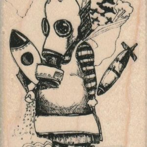Whimsical Bomb Girl 2 1/4 x 3 1/2-0