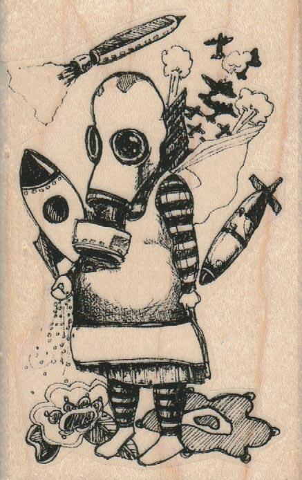 Whimsical Bomb Girl 2 1/4 x 3 1/2