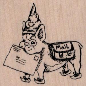 Mail Art Puppy 2 3/4 x 2 3/4-0