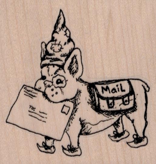 Mail Art Puppy 2 3/4 x 2 3/4