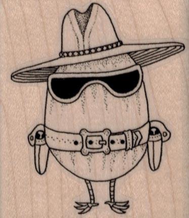 Egg Cowboy 2 x 2 1/4