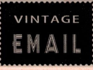 Vintage Email 1 1/4 x 1 3/4-0