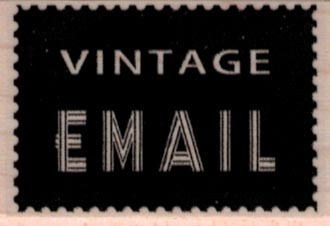 Vintage Email 1 1/4 x 1 3/4