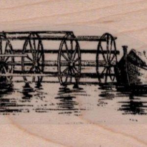 Water Mill Scene 1 3.4 x 4 1/2-0