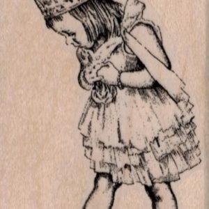 Girl in Princess Costume 2 x 3 1/4-0