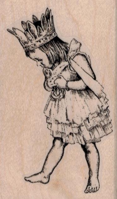 Girl in Princess Costume 2 x 3 1/4