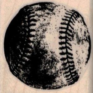 Grungey Baseball 1 3/4 x 1 3/4-0