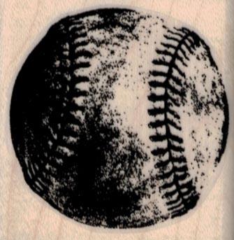 Grungey Baseball 1 3/4 x 1 3/4