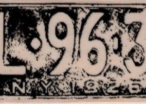 NY License Plate 1 1/4 x 2 3/4-0